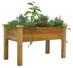 Rustic Elevated Garden Bed ~ #fixerupper #fixerupperstyle
