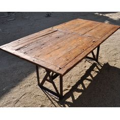 The Appalachian Rustic Teak Table is sandblasted to create a weathered, natural look.