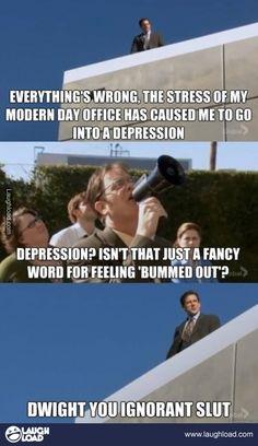 Dwight you ignorant sl*t.