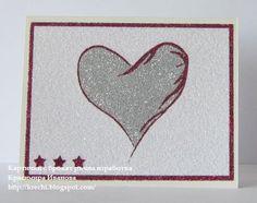 Card Making, Hearts, Glitter, How To Make, Heart, Glow