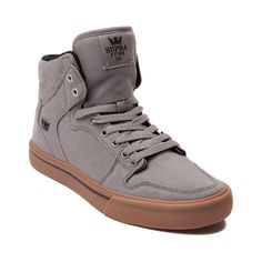 edf47d98d43756 Shop for Mens Supra Vaider High Skate Shoe in Storm Gray Gum at Journeys