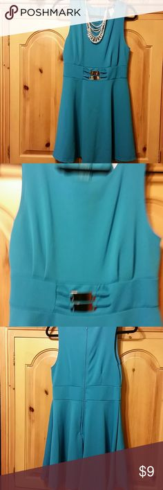Turquoise dress Just over the knee dress. Very cute Dresses Midi