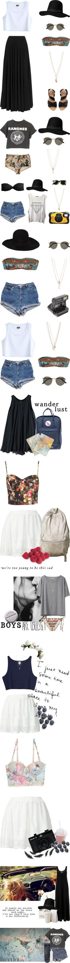 There is something so appealing about these outfits. Some girly and sweet, innocent. And some rebellious and unapologetically 90's grunge wonderfulness. I'd rock them all.