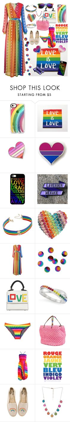 """""""Celebrate Pride Month!"""" by michele-nyc ❤ liked on Polyvore featuring Casetify, INC International Concepts, Betsey Johnson, Just Cavalli, Umbra, Les Petits Joueurs, Ermanno Scervino, Soludos, Marc Jacobs and pride"""