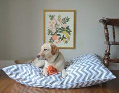 Chevron Dog Bed Cover Grey Zig Zag Large / Extra by thefoggydog, $59.00