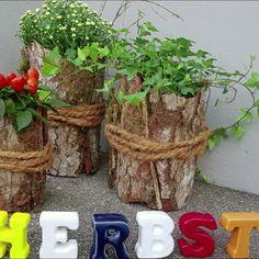 Twig Crafts, Nature Crafts, Garden Crafts, Garden Projects, Unique Garden Decor, Unique Gardens, Diy Flowers, Flower Pots, Deco Floral