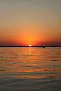Spirit Lake, Iowa sunset