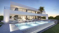 Luxury villa in Marbella. This Laura Jimenez project has been designed by the architect team at who's offices are currently in Dubai, Marbella and Madrid.