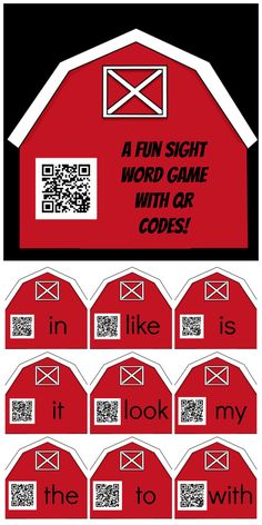 Sight word game with QR codes, plus recommendations for recording audio and creating QR codes.
