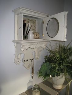 Beautiful 1840's Clock Case Repurposed...  Annie Sloan Chalk Paint  Old White