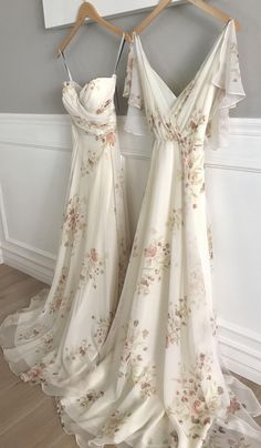 Adeline + Cassie Bridesmaid Dresses in Ivory Soft Rose Eden Bouquet
