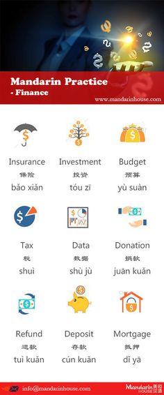 Finance in Chinese.For more info please contact: bodi.li@mandarinhouse.cn The best Mandarin School in China.