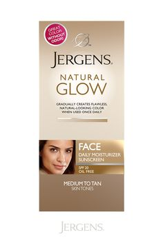 Keep your beauty routine quick and simple this summer—forego the makeup! With flawless, natural-looking color plus SPF 20 protection from sun exposure, Jergens Natural Glow Face Daily Moisturizer Sunscreen evens skin tone so you can lose the foundation!