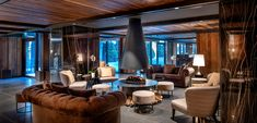 Le Massif hotel, designed by architect Andrea Auletta and interior contractor Concreta, has a view of Europe's highest mountain Camas King, Adaptive Reuse, Space Gallery, Urban Design, Aesthetics, Ski Chalet, Table, House, Furniture