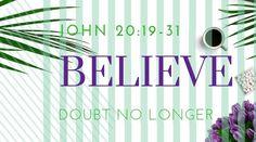 Bible passage John Doubt no longer but believe. John 20 19, Hugot, Daily Bread, Believe, Bible, Biblia, The Bible, Books Of Bible