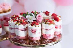 Dessert Cups from a Pink + White & Gold Garden Party via Kara's Party Ideas | KarasPartyIdeas.com (27)