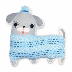 8437c4d73d Petit Monkey Kissen aus Bio Baumwolle mit Hund Peanut. Weich und kuschelig.  Kinderzimmdeko in