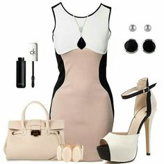 I love this entire outfit, the killer heels and the dress.it creates de illusion of curves and gives a nice shape. Very pretty! Classy Outfits, Sexy Outfits, Beautiful Outfits, Beautiful Clothes, Diva Fashion, Womens Fashion, Fashion Trends, Types Of Clothing Styles, Summer Work Outfits
