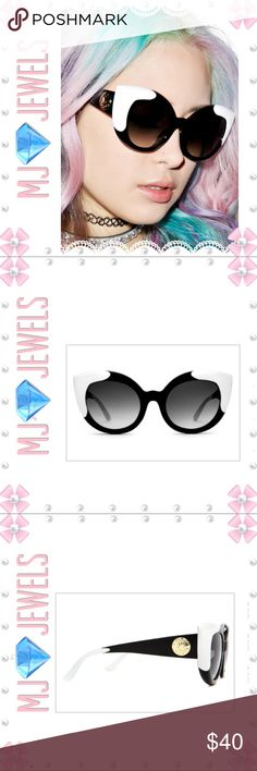 "🎀New Sunglasses 🎀 The Gradient Diamond Brunch Sunglasses are perfect for when yer feline fine! These rad shadez are inspired by retro cateye frames of yesteryear with a polycarbonate molded frame that have thick rims with cat eye pointed corners. Throw these sassy shadez on that have a gold embossed ""logo on the arms, UV400 lenses. Accessories Glasses"