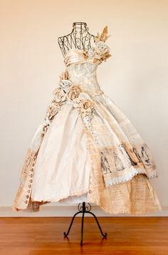 Dress made of book pages