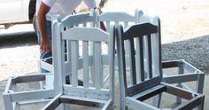 Six vieilles chaises qui deviendront un banc de toute beauté!