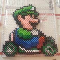 Luigi Mario Kart perler beads by perlerboss