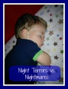 When my son had a few sleepless nights I did some research!  Night Terrors vs. Nightmares - We Three Crabs