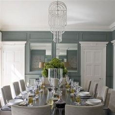 C.B.I.D. HOME DECOR and DESIGN: EXPLORING WALL COLOR: GRAY=====long table look- dining room