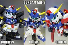 GUNDAM GUY: SD Gundam BB Gundam AGE-3 - Painted Build