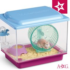 """American Our Generation Blue Pet Bird Play set w Food /& Cage 18/"""" Girl Doll"""
