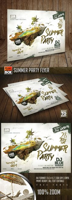 Summer Party Flyer  PSD Template • Download ➝ https://graphicriver.net/item/summer-party-flyer/17142484?ref=pxcr