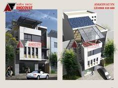 Thiết kế nhà phố 7x20m 3 tầng 4 phòng ngủ hiện đại ở Thái Bình