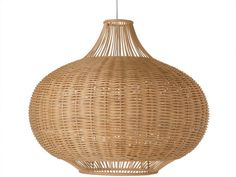 The simple shape of this ceiling lamp combined with the texture of the hand woven wicker gives any space an organic, timeless feel. Hang it in your foyer, kitchen, home office, bedroom or in your gazebo (as long as not exposed to the elements) to brighten up the space.