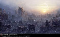 Environment: Post Apocalypse, Daniel Kvasznicza (2D)
