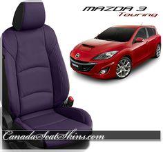 2014 - 2016 Mazda 3 Touring - Go Wild With Purple Leather - canadaseatskins.com #leather #leatherseats #mazda
