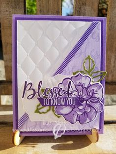 Ruth's Stamping Corner: To A Wild Rose-Gorgeous! Purple Cards, Altenew Cards, Stampin Up Catalog, Fancy Fold Cards, Stamping Up Cards, Pretty Cards, Color Card, Flower Cards, Creative Cards