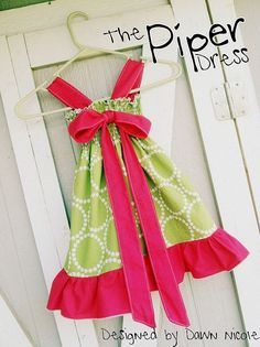 Easy Girls Dress Free Pattern   FREE PATTERN! - The Piper Dress   Easy little girl dress patterns