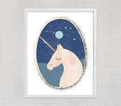 Inspire your little one's space with art like this unique piece, entitled Unicorn Dreams by Hannah Williams. We've partnered with Minted to bring independent design to you. Minted crowdsources artwork from a global community of artists, Hannah Williams, Dream Kids, How To Make Signs, Foil Art, Dream Wall, Pottery Barn Teen, Nursery Room Decor, Girl Nursery, Foil Stamping