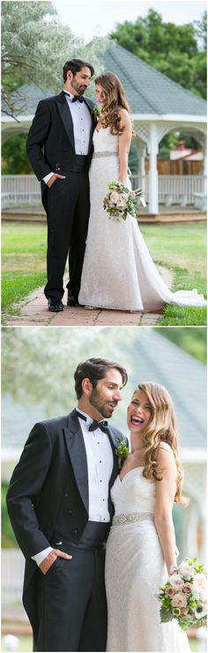 Black Tie Wedding Fashion Tux Glam Strapless Wedding Dress Retro Waves Hairstyle