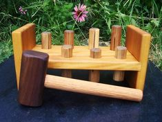 everyone has the fisher price version of this pounding bench, but i prefer wooden toys.