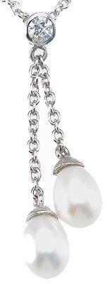 LaRaso & Co Sterling Silver CZ Brilliant Fashion Necklace for Women