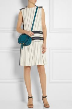 Chloé|The Marcie mini textured-leather shoulder bag|NET-A-PORTER.COM