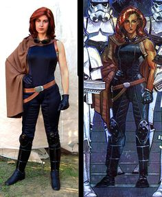 Mara Jade (I didn't want to post other peoples cosplay work here, but it's the only image of Mara Jade I could find in the outfit I want to do)
