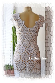 Crocheted dress tunic made to