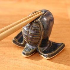 剣道のメン箸置き(藍色)