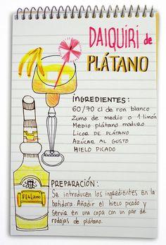 Daiquiri de plátano: cóctel con ron