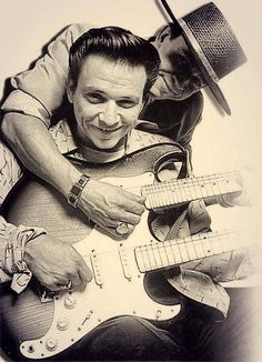 Brothers Jimmy Ray Vaughn ( The Fabulous Thunderbirds) and Stevie Ray Vaughn
