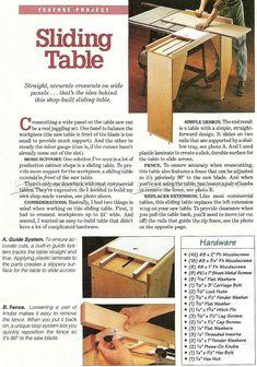 DIY Table Saw Sliding Table - Table Saw