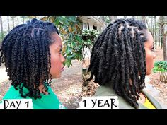 Here is my one year starter loc hair journey update with two strand twists on natural hair! Natural Dreads, Natural Hair Twists, Natural Hair Updo, Natural Hair Styles, Dreadlock Hairstyles, Twist Hairstyles, Black Hairstyles, Wedding Hairstyles, Starting Dreads