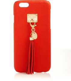 Henri Bendel West 57th Leather Tassel Phone Case for iPhone 6 on shopstyle.com
